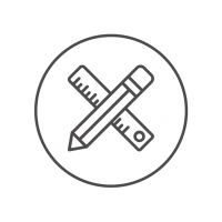 Kröll-Tischlerei-Werkstatt-Innenarchitecktur-Icons-Outline_Technischer-Zeichner